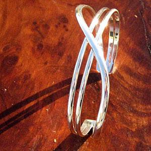 Sy Silver Cuff Bracelet